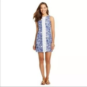 Lily Pulitzer For Target Blue & White Shift Dress